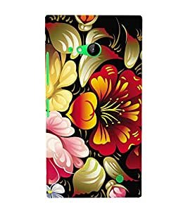 Floral Abstract Painting 3D Hard Polycarbonate Designer Back Case Cover for Nokia Lumia 730 :: Microsoft Lumia 730 :: Microsoft Lumia 735