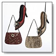 12 Leopard and Snakeskin Shoe and Purse Christmas Ornaments 4