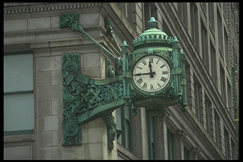 212002-street-clock-marshall-field-and-co-building-state-st-a4-photo-poster-print-10x8