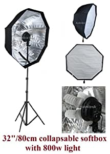 Ardinbir Studio 800W Continuous Fluorescent Light Stand Kit with 80cm 32