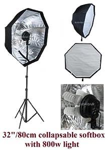 Ardinbir Studio 800W Continuous Fluorescent Light Stand Kit with 80cm 32