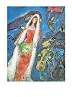 Artopweb Panel Decorativo Chagall La Mariee,1950 - 68x53 cm Multicolor