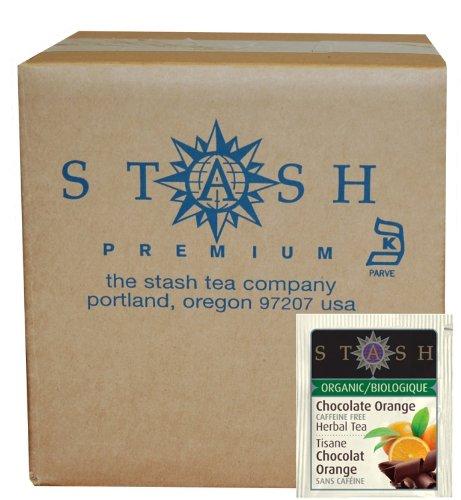 Stash Tea Organic Herbal Tea Bags In Foil, Chocolate Orange, 100 Count