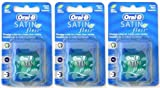 3x Oral-B Satin Floss Mint 25m Flossing Action For A Fresh Clean Feeling