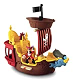 Fisher-Price Disney's Jake and The Never Land Pirates Hook's Jolly Roger Pirate Ship Children, Kids, Game