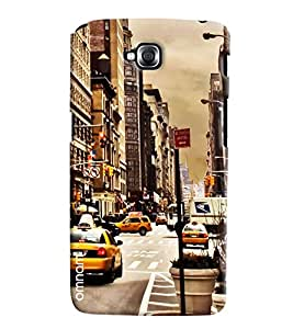 Omnam City Road Printed With Taxi Printed Designer Back Cover Case For LG G Pro Lite
