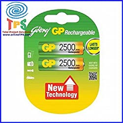 Godrej GP AA 2500mAh NiMh Rechargeable Battery Pack of 2