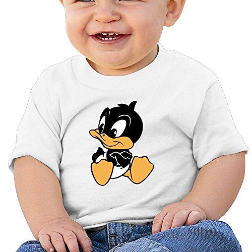 kking-cartoon-little-black-duck-baby-boys-girls-fashion-tee-white-18-months