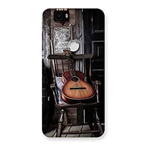 Enticing Old Guitar On Chair Back Case Cover for Google Nexus-6P
