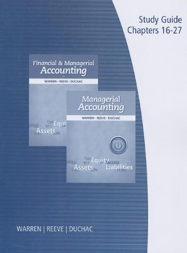 managerial accounting study guide Financial accounting clep - a free study guide alternatives: straighterline accounting 1 and 2 (financial and managerial accounting exam description: the financial accounting clep covers the knowledge you would learn in a semester at a typical college financial accounting course.