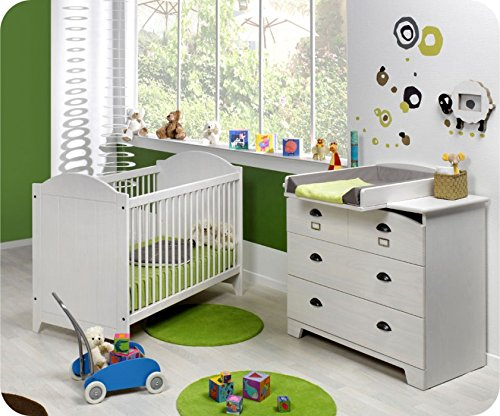 Mini Babyzimmer Charme weiß mit Wickelfläche bestellen