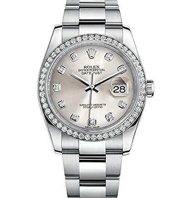 Rolex Datejust 36 Stainless Steel White Gold Diamond Bezel 116244