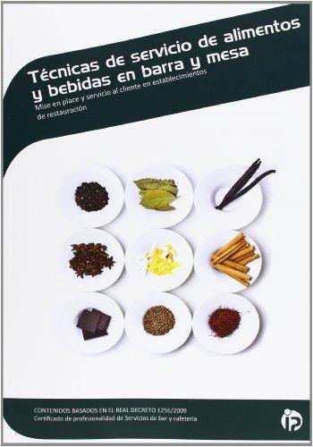 TECNICAS DE SERVICIO DE ALIMENTOS Y BEBIDAS EN BARRA Y MESA