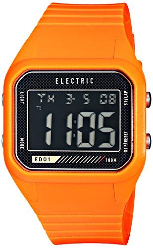 Electric Men'S Ew0110030019 Ed01 Pu Band Digital Display Japanese Quartz Orange Watch