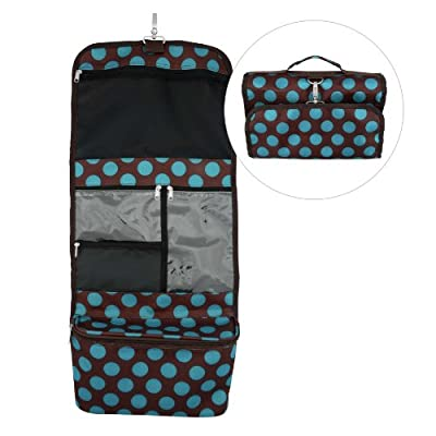 Cheapest Ladies Blue Polka Dot Travel Tote / Professional Cosmetic Bag from Attitudes Design - Free Shipping Available