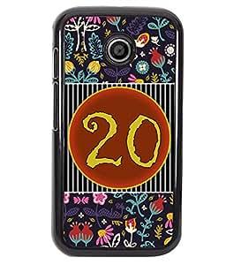 PrintVisa Metal Printed Numeric Designer Back Case Cover for Motorola Moto E/ E Dual sim -D4770