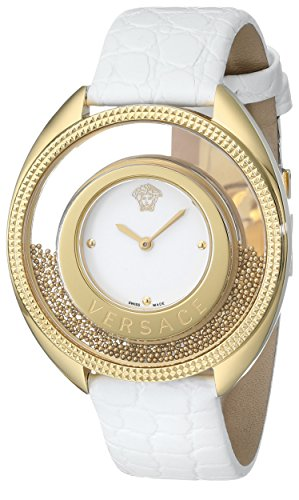 "Versace Women's 86Q70D002 S001 ""Destiny Spirit"" Gold PVD Watch with Leather Band image"