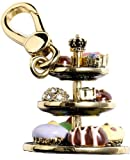 Juicy Couture - 3 Tier Decadent Dessert Tray Rhinestones - Gold Plated Charm