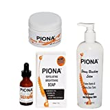 Piona Skin Lightening Kit - Includes 1.69 Oz Cream Soap Serum and Body Lotion - By Cherrybargains