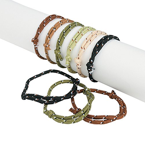 Fun Express - Camouflage Camo Rope Bracelets - Adjustable (72 Pcs) - Bulk