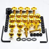 PRO BOLT FAIRING BOLT KIT FITS HONDA XL1000 VX-V2 VARADERO 99-03 GOLD