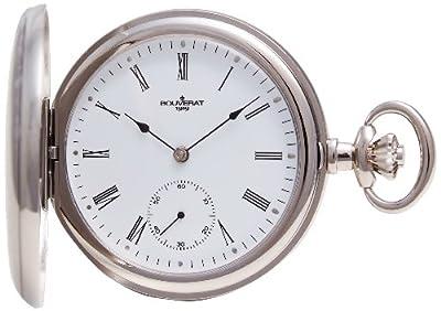 Bouverat 1919 Pocket Watch BV822211 Rhodium Plated Full Hunter