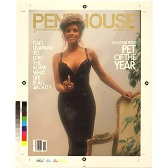 Penthouse November 1982 Production Art Cover Draft Corrine Alphen