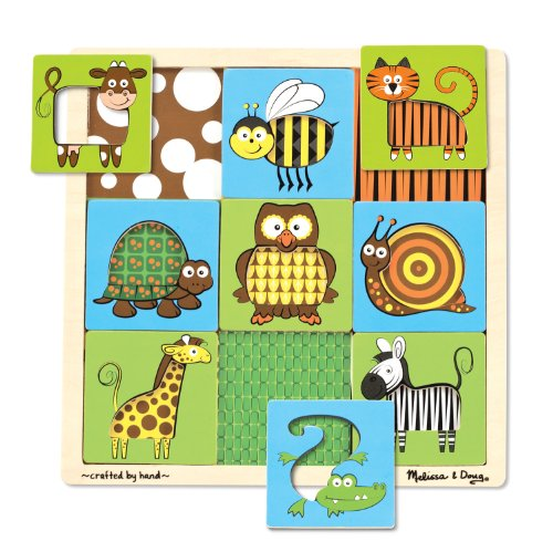 Melissa & Doug Peek-Through Puzzle Animals - 1