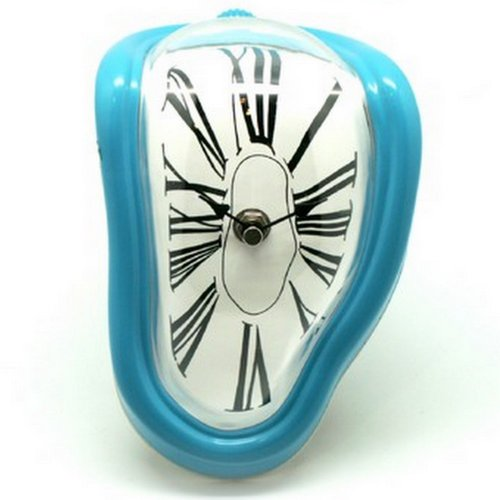 Retro Light Blue Modern Novelty Salvador Dali Desk/Shelf Melting Clock