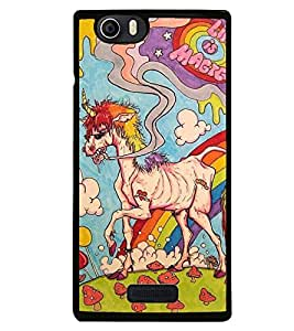 Droit Printed Back Covers for Micromax Canvas Nitro 2 E311 + Portable & Bendable Silicone, Super Bright LED Lamp, 360 Degree Flexible for Laptops, Smart Phones by Droit Store.
