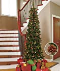 7' Slim Prelit Christmas Tree (White Lights) 7 FEET TALL!