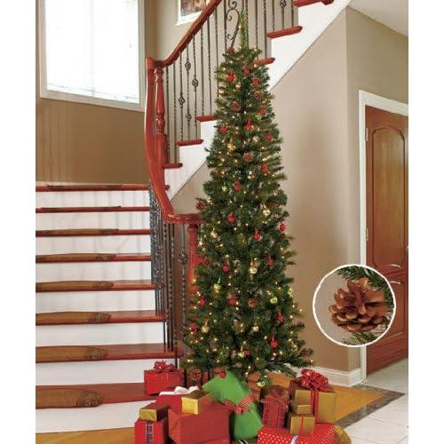tall skinny fake christmas tree
