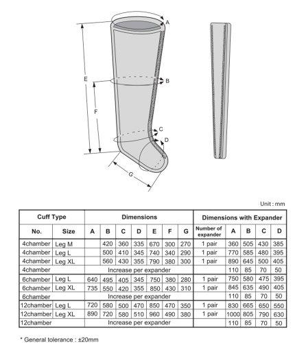 DR.LIFE Luxury LX7 Healthcare Air Compression Leg Massager Complete Set(110 voltage) (XXL)