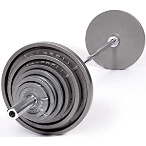 Buy USA Sports by Troy Barbell 300 lb. Olympic Grey Weight Set with Chrome Bar by USA Sports