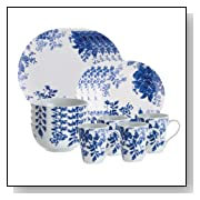 Dinnerware Tatnall Street 16 Piece Dinnerware Set, Bluebell