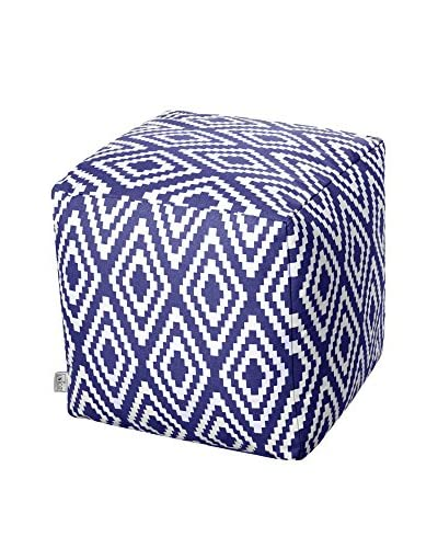 Glam Home Puff Ela Azul / Blanco