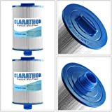 2-Pack Clarathon Spa Filters Replacement for Unicel 6CH-940, Pleatco PWW50 P3, Filbur FC-0359