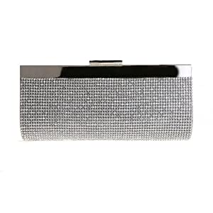 Women Sparkle Dazzling Rhinestone Elegant Party Hard Case Wallets Clutch Purses