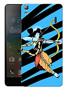 "Humor Gang Ram Abstract Art Hindu God Printed Designer Mobile Back Cover For ""Lenovo A7000 - Lenovo A7000 Plus - Lenovo A7000 Turbo - Lenovo K3 Note"" (3D, Matte, Premium Quality Snap On Case)"