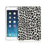 Grey White Leopard Print Design Leather Case Apple iPad Mini With Retina Display