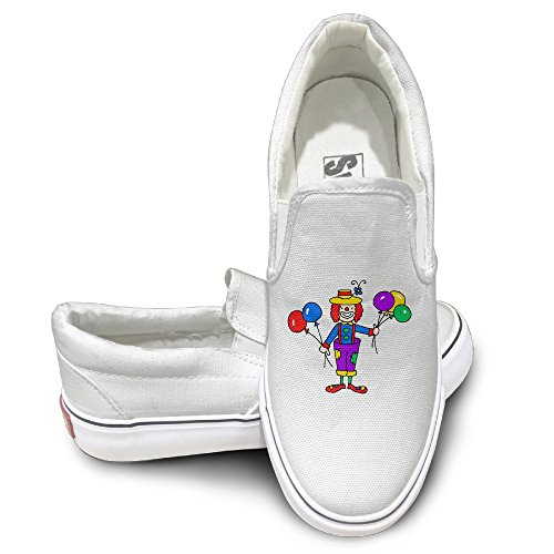 Clown With Colorful Balloon Logo Print Collection Canvas Shoes Graphic Casual Sneakers