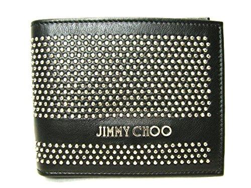 [ジミーチュウ] JIMMY CHOO 二つ折り札入れ 財布 ブラック×シルバー 牛革(カーフ) 144MARK [並行輸入品]