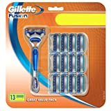 Gillette Fusion Big Pack with Razor and 12 Blades