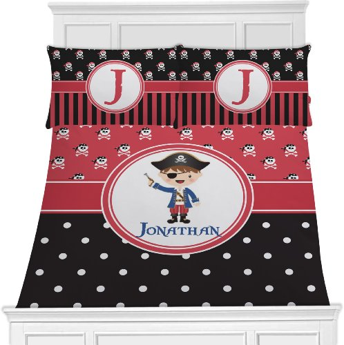 Pirate Bedding Set - Red & Black For Boys & Girls - Twin front-815649