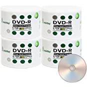 Smart Buy 200 Pack DVD-R 4.7gb 16x Silver Printable Inkjet Blank Record Disc 200 Disc 200pk