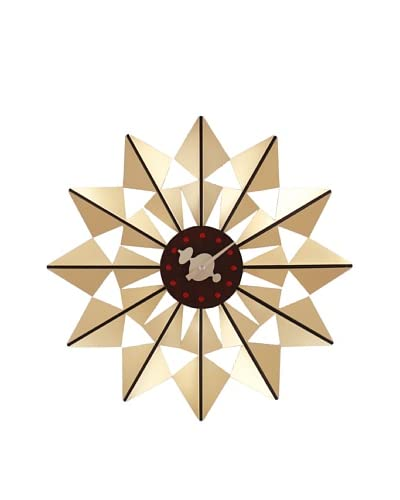 George Nelson Butterfly Clock, Gold