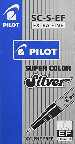 Pilot Super colore extra fine Pennarelli Extra Fine Scatola da 12 Silver