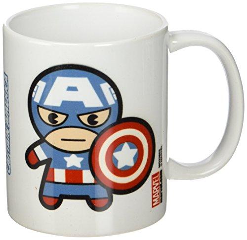 """Marvel-Tazza in ceramica, soggetto """"Capitan America, colore: multicolore"""