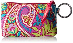 Vera Bradley Zip ID Case Pouch, Paisley In Paradise, One Size