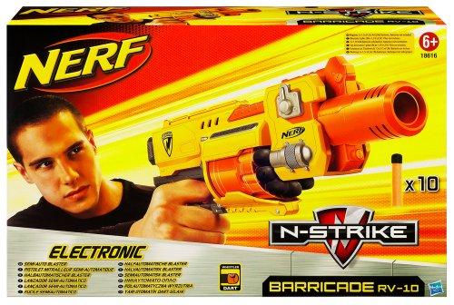Nerf 18616148 - Barricade RV-10 batteriebetriebener Soft Dart Blaster